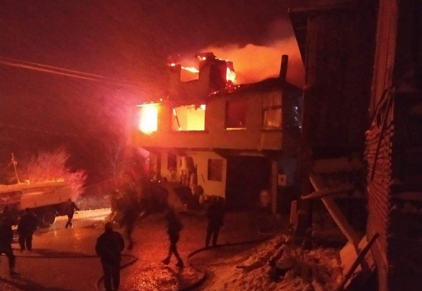 Akyokuş Köyünde Yangın