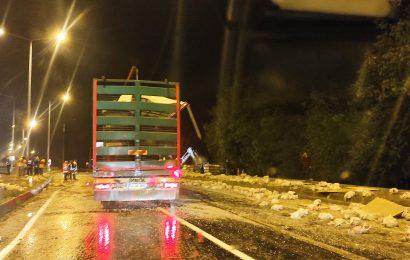 Taşkesti'de Trafik Kazası Tavuklar Telef Oldu